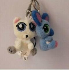 custom keychain/10cm cute soft plush keychain