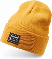 100% Acrylic cuffed beanie with custom woven label patchs