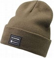 100% Acrylic cuffed beanie with custom woven label patchs 5