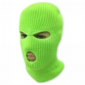 Neon Knit Balaclava Three Hole Ski Face