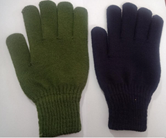 Men Women Winter Classic Solid Colored Knit Gloves