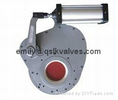 Pneumatic ceramic rotary gate valve