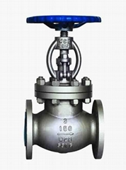 Straight through globe valve