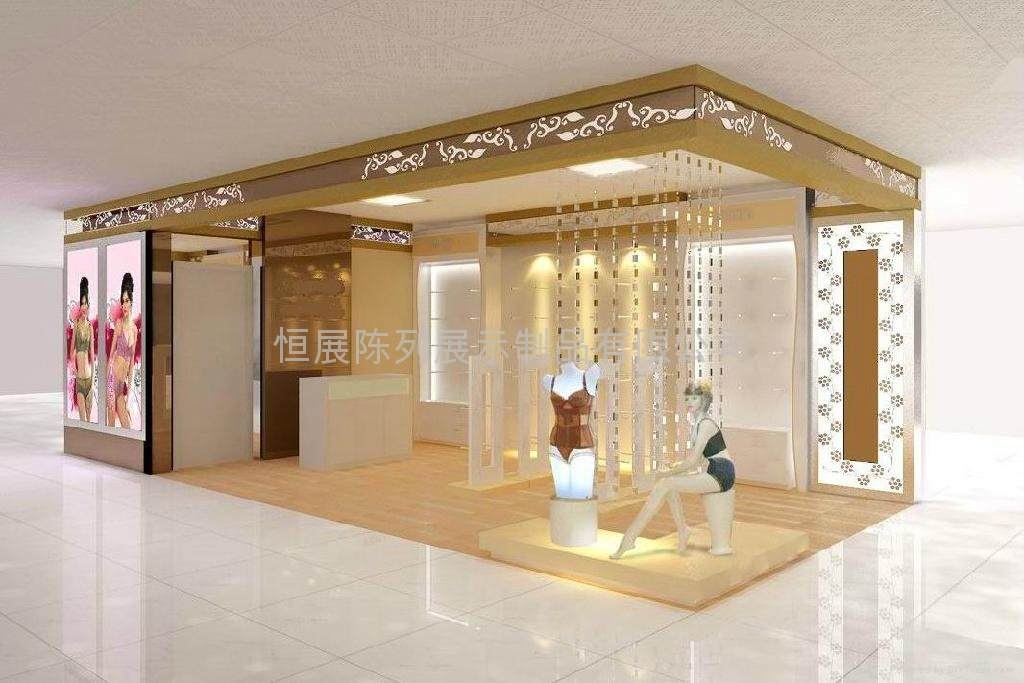 Exhibition Display Cabinets : Provide underwear store design and production