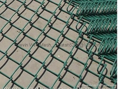 PVC coated chain link fe