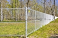 PVC coated chain link fencing with RAL 6005 green colour 5