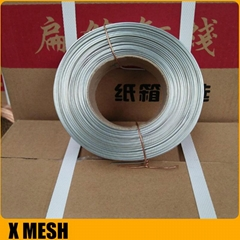 Copper-plated Galvanized Carton Stitching Flat Wire For Corrugated Box