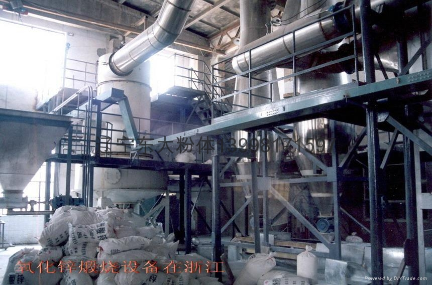 Active zinc oxide by calcining furnace 5