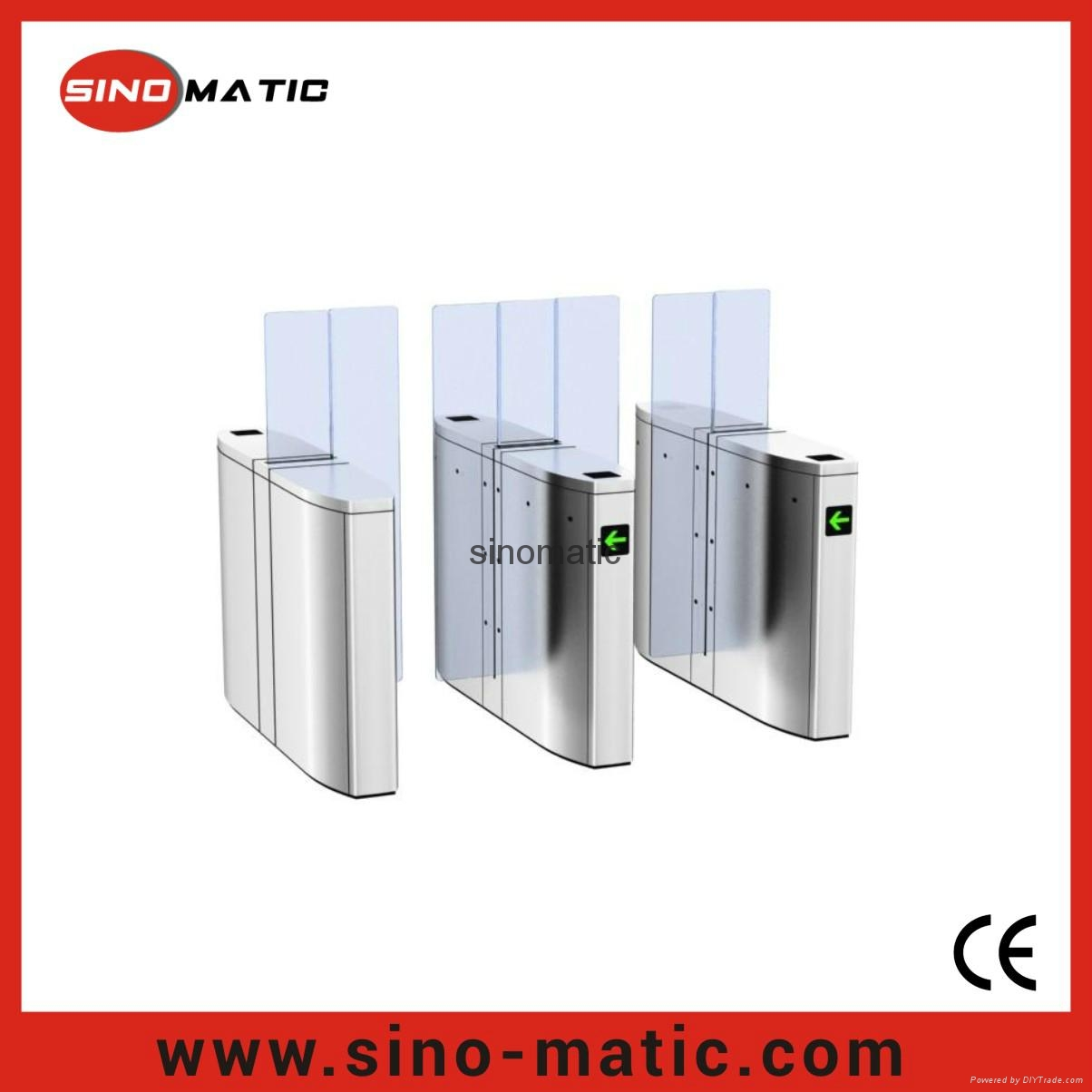 Stainless steel security pedestriam access control sliding
