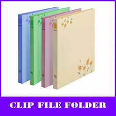fashion flowers a4 pp file folder (with clip and board