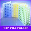 unique holes design color a4 pp clip