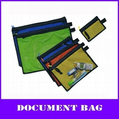color pp multi-function zipper file mesh