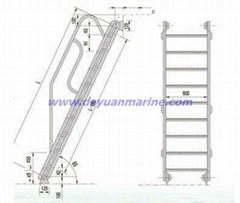 Steel Inclined Ladder