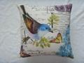 Double-side Print Birds Cushion Cover