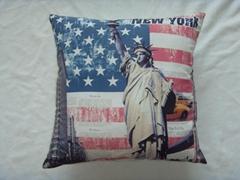 Print US flag Cushion cover
