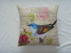 Vivid Spring bird cushion cover