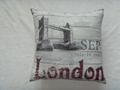 digital print  UK London bolster cover