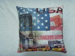 Polyester print US flag cushion mat cover