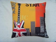 digital print UK style cushion cover