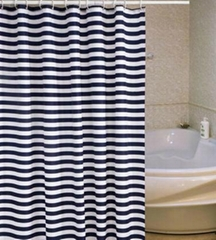 printed poly water-resistance shower drape