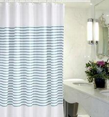 Printed water resistant shower liner