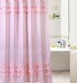 Polyester waterproof pintuck shower