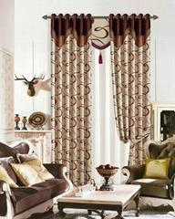 Polyester jacquard drape panel curtain blackout