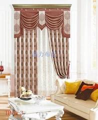 Polyester linen-look jacquard blackout panel