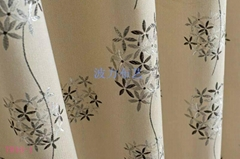 Jacquard polyester linen-look panel