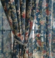 Flower-Printed polyester curtain