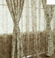 Printed flower poly voile panel