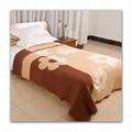 merino jacquard wool blanket throw bed