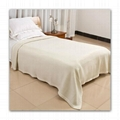 cashmere fine wool bed cover throw blanket soft warm
