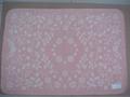 cotton jacquard pink cute cot blanket