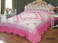 Flower applique patchwork bedspread bed