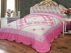 Flower applique patchwork bedspread bed cover comforter