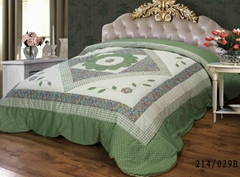 Appliqued with padding patch-work bed cover bedspread comforter