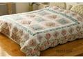 Patchwork emrbroidered bedspread