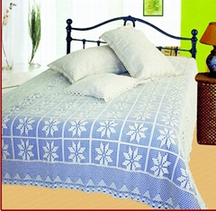 Natural countryside style crochet bedspread bed sheet