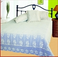 Countryside style crochet knitted bedspread bed cover 1