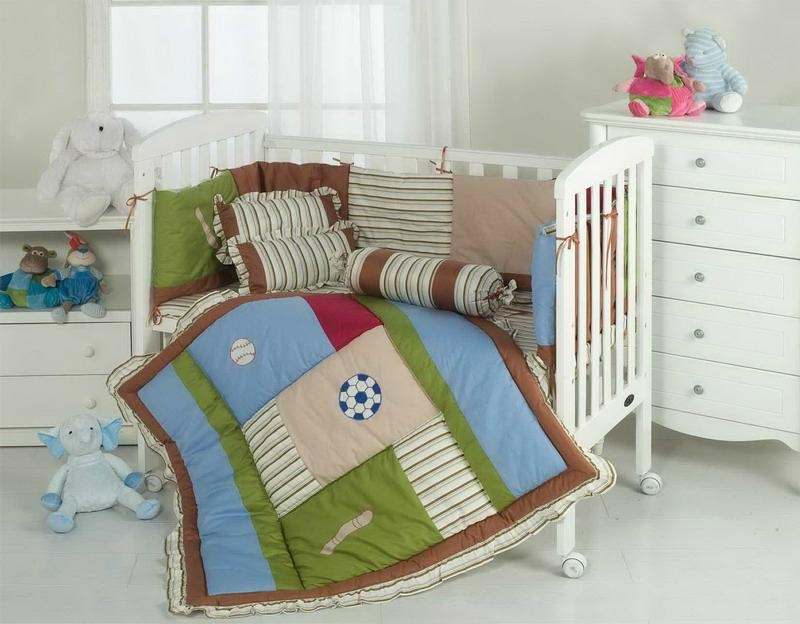Baby Boy's sport logos quilt cover bed sheet skirt fitted sheet bolster cushion  1