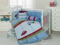 Boy's cot bumper quilt set bed sheet