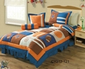 Boys patchwork embroidered bedspread