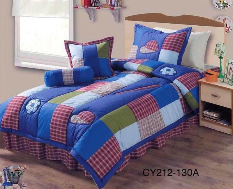 Teenager balls patchwork comforter bedspread bed cover 1