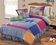 Boy's sports appliqued comforter bedcover bedspread