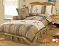 Kid's boy's patchwork appliqued bed