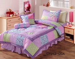 Lilac daisy girl's bedspread comforter bed cover