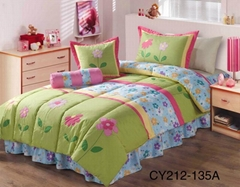 Kid's girl's patchwork bed cover comforter set