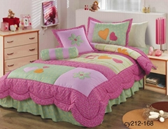 Kid's Girl's bedspread comforter bed cover
