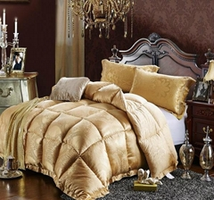 Jacquard comforter bedspread bed cover with filling padding quilting